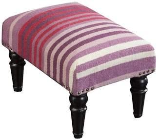 Surya Fl-1006 Furniture Foot Stool, Eggplant, Salmon, Eggplant, Cherry