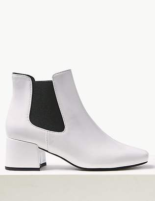 M&S Collection Square Toe Chelsea Ankle Boots