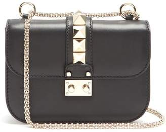 Valentino Lock Small Leather Shoulder Bag - Womens - Black