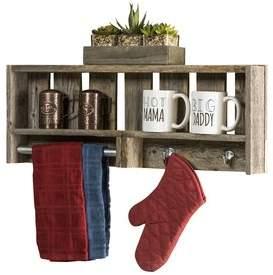 Gracie Oaks Rabiya Reclaimed Wood Versatile Accent Shelf