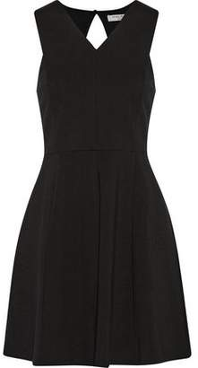 Halston Cutout Pleated Ponte Mini Dress