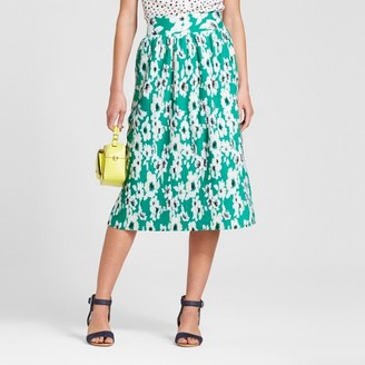 Merona Women's Floral Pleated Midi Skirt $22.99 thestylecure.com