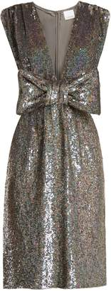 Ashish Bow-front sequin-embellished sleeveless dress