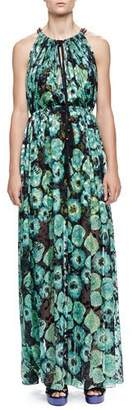 Lanvin Floral-Print Tassel Drawstring-Neck Maxi Dress $4,985 thestylecure.com