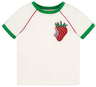 bae9b0eb67af Gucci Strawberry Patch T-Shirt, Size 4-12