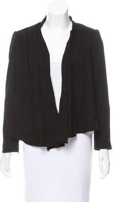 Alice + Olivia Suede-Accented Wool Jacket