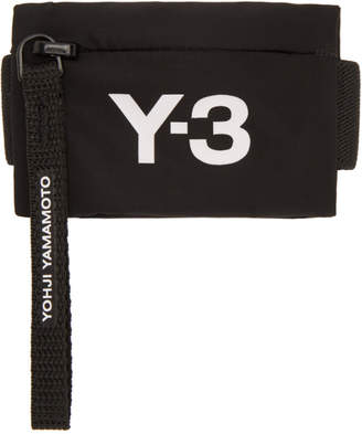Y-3 Black Mini Wrist Coin Pouch