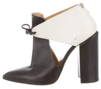 Walter Steiger Leather Pointed-Toe Ankle Booties