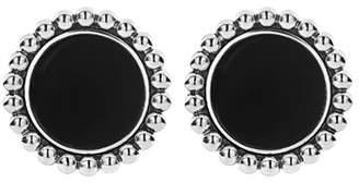 Lagos Sterling Silver & 14K Yellow Gold Maya Black Onyx Stud Earrings