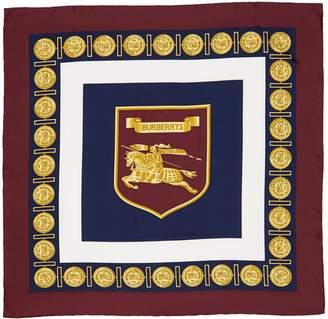 Burberry Archive Print Square Silk Scarf