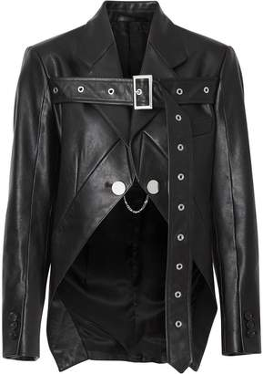 Burberry Biker Belt Detail Leather Morning Jacket