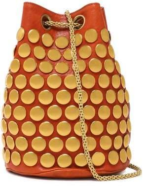 Jerome Dreyfuss Popeye Studded Leather Bucket Bag
