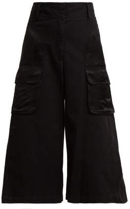 Sies Marjan - Sidney Wide Leg Cotton Culottes - Womens - Black