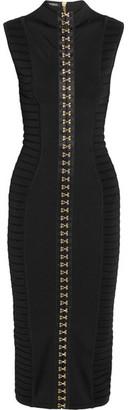 Balmain - Ribbed Stretch-knit Midi Dress - Black $3,900 thestylecure.com