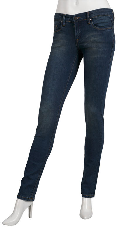 Singer22 Blank Denim Skinny Jeans in Medium Blue/Tag