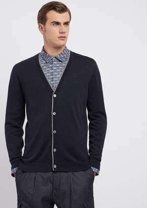 Emporio Armani Silk And Cotton Cardigan With Buttons