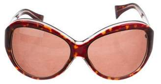 Calvin Klein Collection Tortoiseshell Acetate Sunglasses