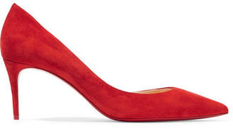 Christian Louboutin Iriza 70 Suede Pumps - Red