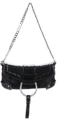 Dolce & Gabbana Snakeskin-Trimmed Evening Bag