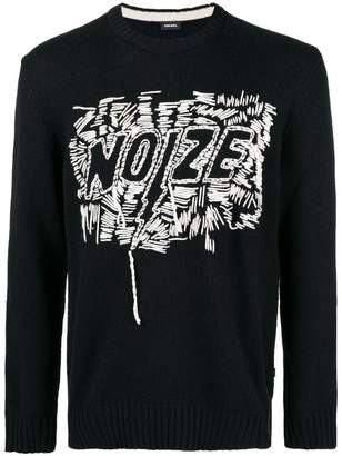 Diesel Noize loose intarsia knit sweater