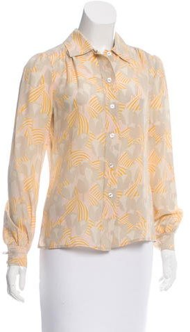 Tory Burch Tory Burch Printed Button-Up Top