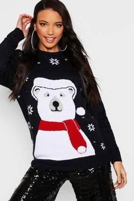 boohoo Polar Bear Christmas Jumper