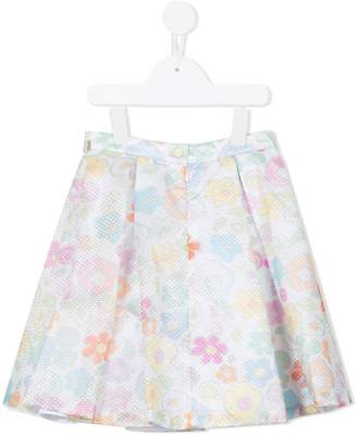 Valmax Kids floral embroidered skirt