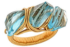Arcatus Jewelry Blue Topaz Luca Ring