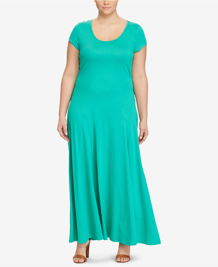 Lauren Ralph LaurenLauren Ralph Lauren Plus Size Fit & Flare Dress