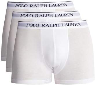 Polo Ralph Lauren Set of three logo-embroidered briefs