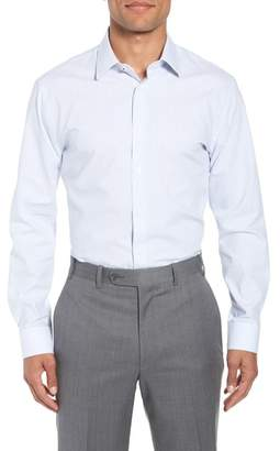 Nordstrom Tech-Smart Trim Fit Stripe Stretch Dress Shirt