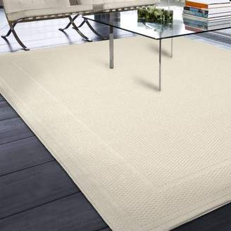 Three Posts Acton Ivory Solid Indoor/Outdoor Area Rug Rug