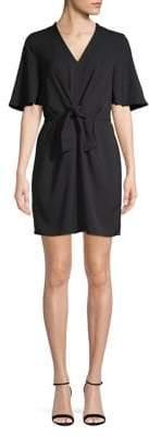 Dex Short Sleeve Tie-Front Shift Dress
