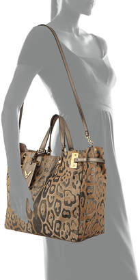 Valentino My Rockstud Large Leopard Tote Bag