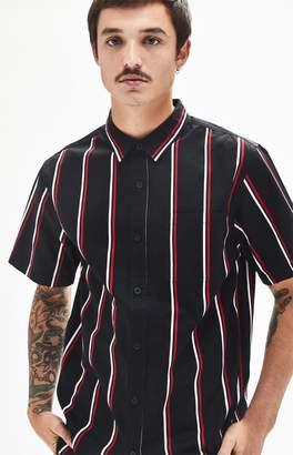 PacSun Choi Stripe Short Sleeve Button Up Shirt