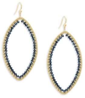 Chan Luu Mystic Citrine Stone & Chinese Crystal Teardrop Earrings