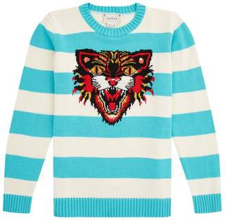 Gucci Striped Tiger Sweater