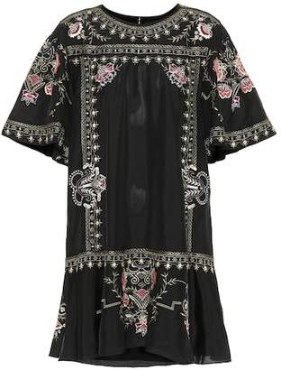 Isabel Marant Dyron embroidered silk minidress
