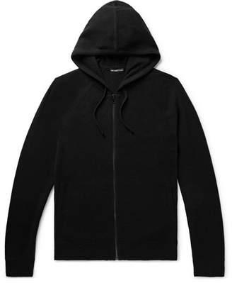 James Perse Slim-Fit Baby Cashmere Zip-Up Hoodie - Men - Black