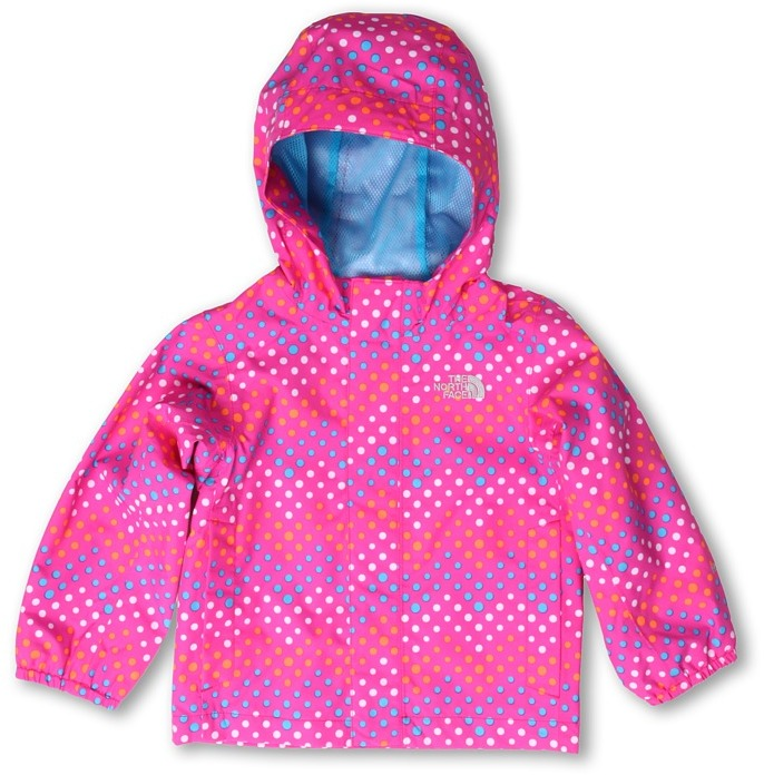 The North Face Kids - Girls' Dottie Tailout Rain Jacket 13 (Toddler) (Linaria Pink Print) - Apparel