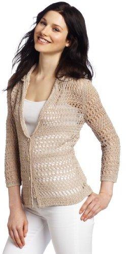 Jones New York Women's Crochet Cardigan Sweater
