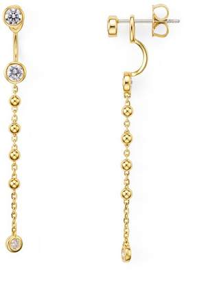 Nadri Linear Front-Back Earrings