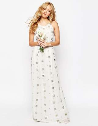 Asos Edition BRIDAL All Over Embellished Cami Maxi Dress