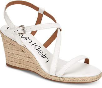 Calvin Klein Women's Bellemine Wedge Sandals Women's Shoes