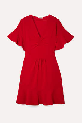 Miu Miu Ruffled Cady Dress - Red