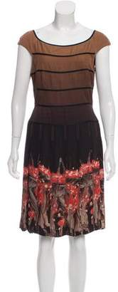 Zac Posen Ombré-Accented Pleated Dress