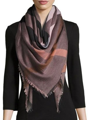 Burberry Relaxed Mega Check Scarf, Rose $295 thestylecure.com