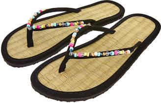 1e613cedb Accessorize Multi Beaded Seagrass Flip Flops