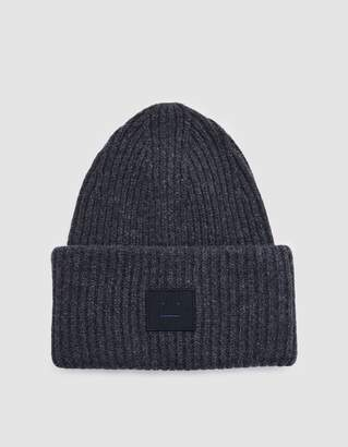 Acne Studios Pansy L Face Beanie in Charcoal Melange