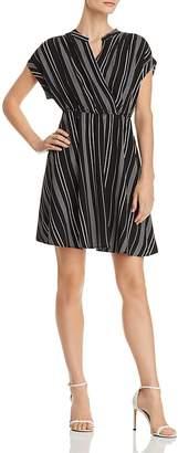 Vero Moda Laura Striped Faux-Wrap Dress